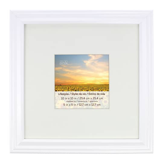 White Square Frame With Mat, Lifestyles™ By Studio Décor®