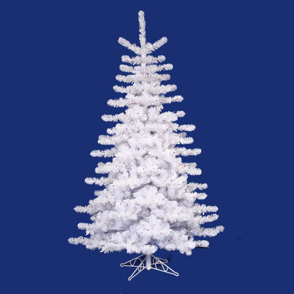 9 ft pre lit crystal white artificial christmas tree clear lights img