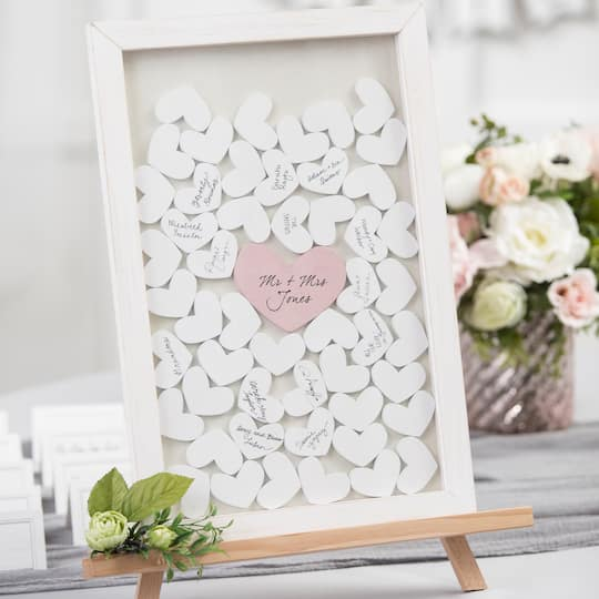 Find The David Tutera Whitewash Guest Book Drop Box Frame At Michaels