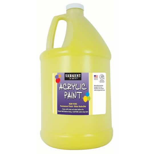 sargent art spectral yellow paint half gallon bottle. Black Bedroom Furniture Sets. Home Design Ideas