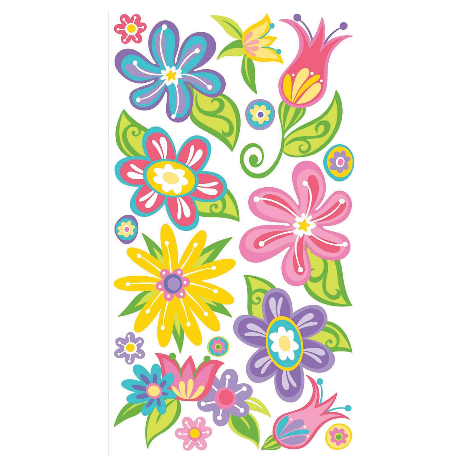 FANCIFUL FLOWERS STICKO STICKERS daisy floral