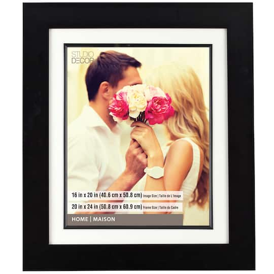 Wide Black Frame 20 X 24 With 16 X 20 Mat Home Collection