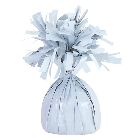 Balloon Weights WHITE Foil birthday party favors 6.2 oz