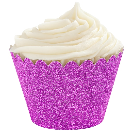 Glitter Cupcake Wrappers By Celebrate It