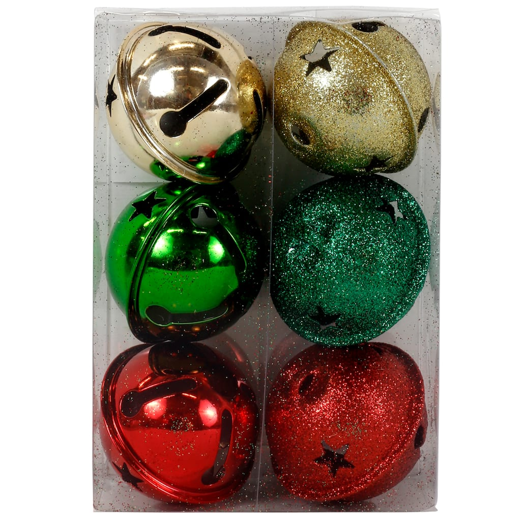 ArtMinds Assorted Star Cutout Jingle Bells, Gold