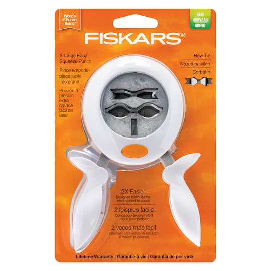 Shop For The Fiskars 174 Bow Tie Extra Large Squeeze Punch At