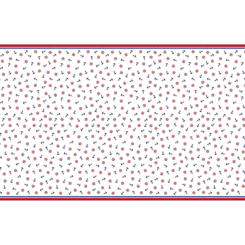 Buy The Plastic Summer Nautical Tablecloth 84 X 54 At Michaels