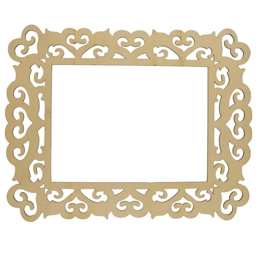 artminds wooden laser cut frame hearts 11 x 14. Black Bedroom Furniture Sets. Home Design Ideas