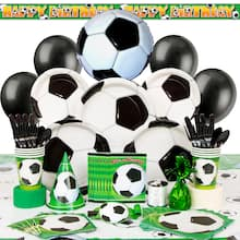 Deluxe Soccer Party Supplies Kit for 8