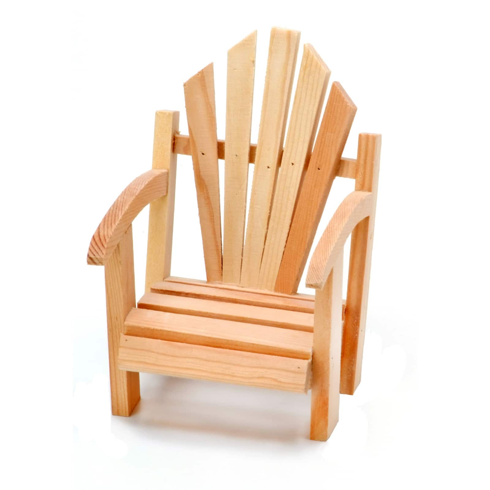 Unfinished Wood Miniature Adirondack Chair