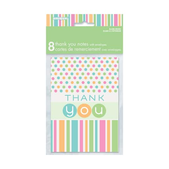 Pastel Baby Shower Thank You Cards Baby Shower Supplies