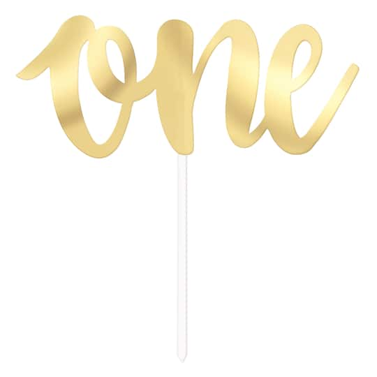 Prime Gold One 1St Birthday Cake Decoration 1St Birthday Party Supplies Funny Birthday Cards Online Alyptdamsfinfo