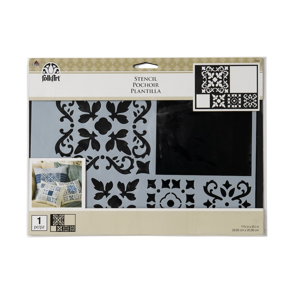 Floor Decor Military Discount: Buy The FolkArt® Stencil, Barcelona Tile At Michaels