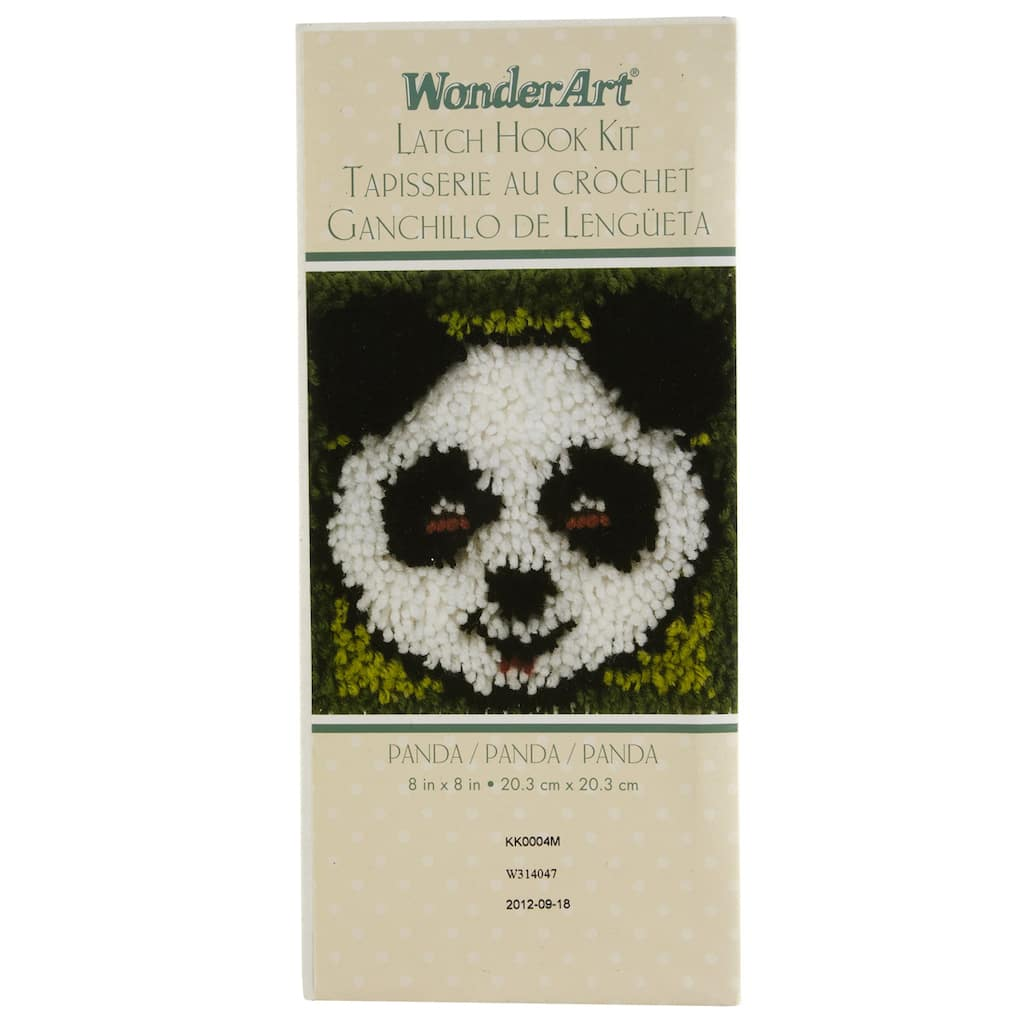 Wonderart Latch Hook Kit Panda