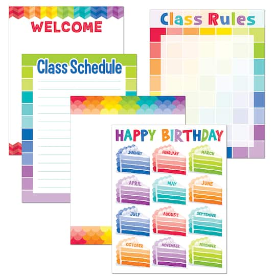 Painted PaletteR Classroom Essentials Chart Pack