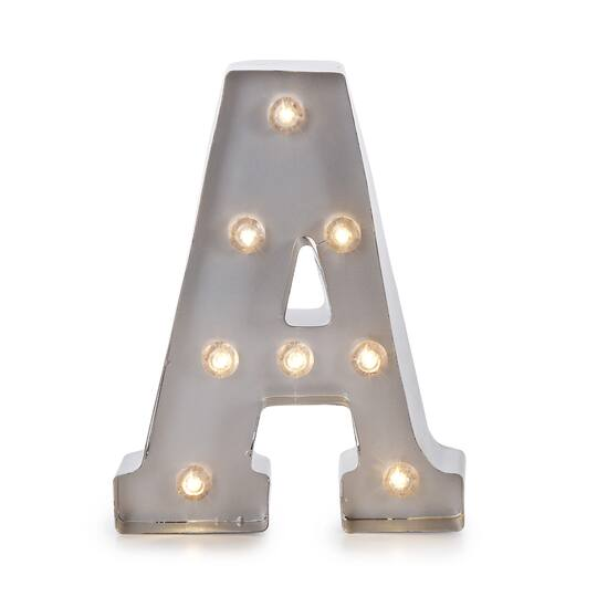lighted marquee letters silver light up letter a 9875 inches