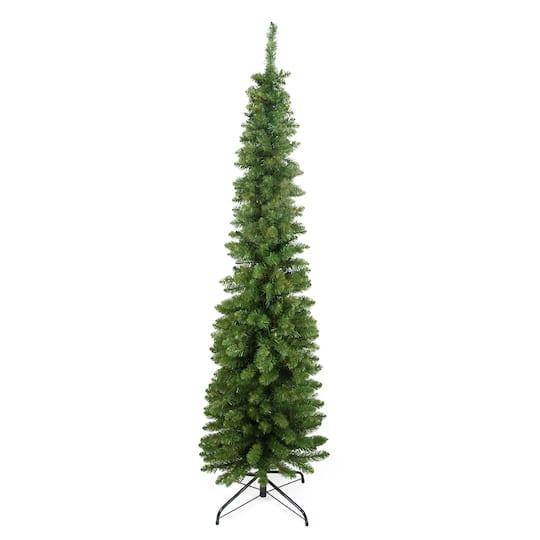 6 Ft Pre Lit Traditional Pine Pencil Artificial Christmas