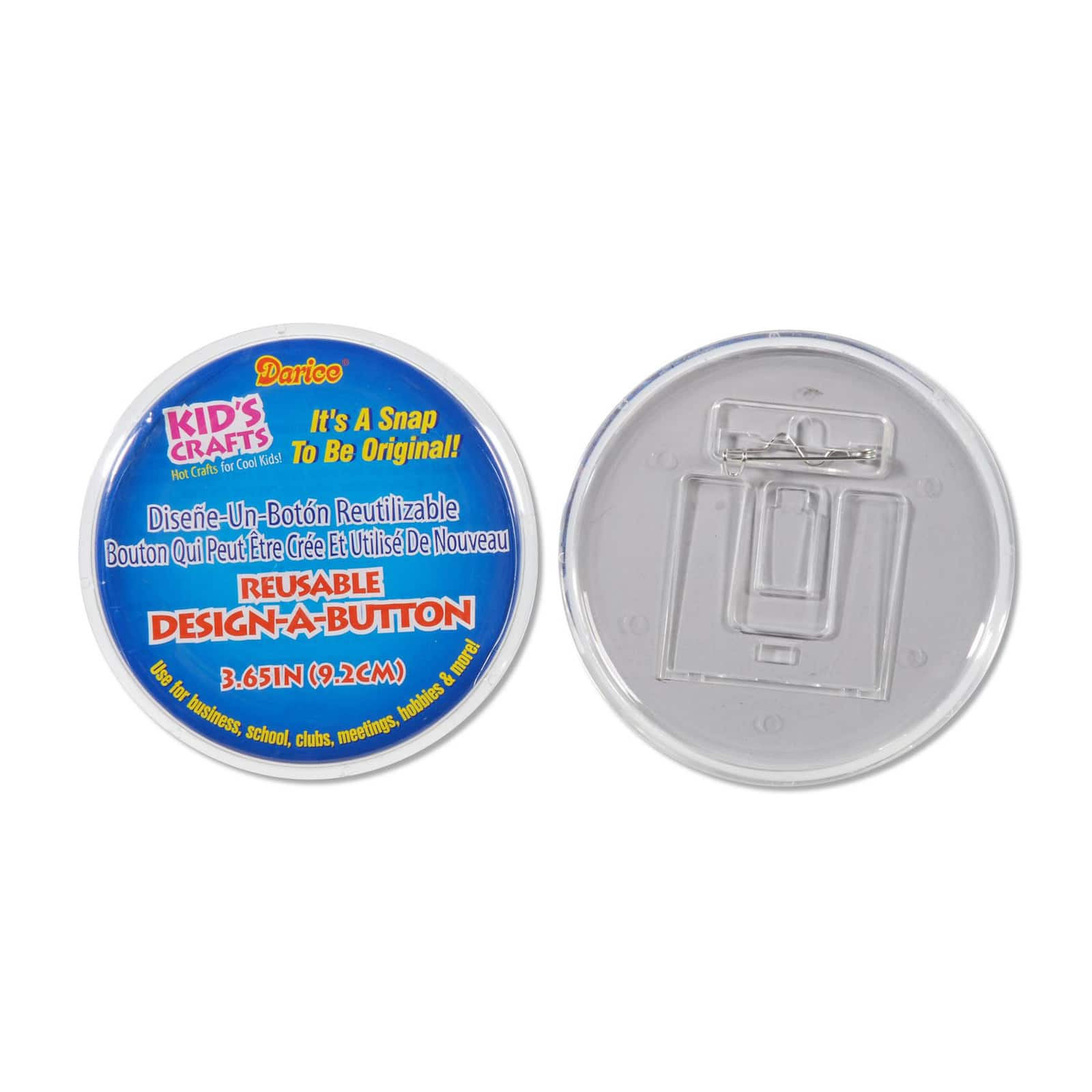 12 Pack 3.65-Inch Darice Design a Button Value Pack