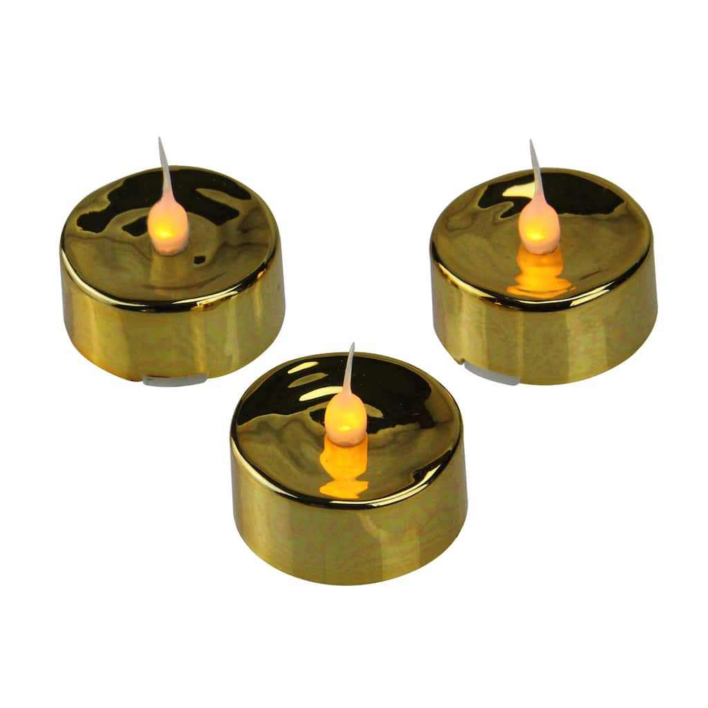 Christmas Flicker Flame Led Tea Light Candle Set Gold Flickering Flamewax Candleled Electronic Circuit