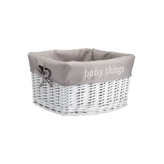Baby Things White Storage Basket With Liner By Ashland