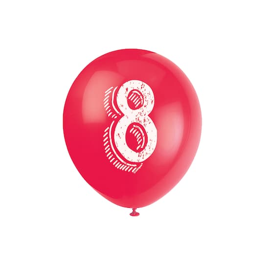 Number 8 Birthday Balloons