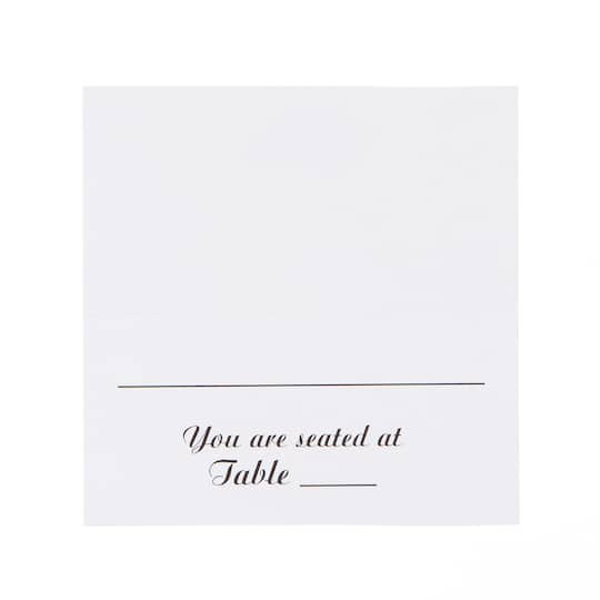 victoria lynn foldover table seating cards white