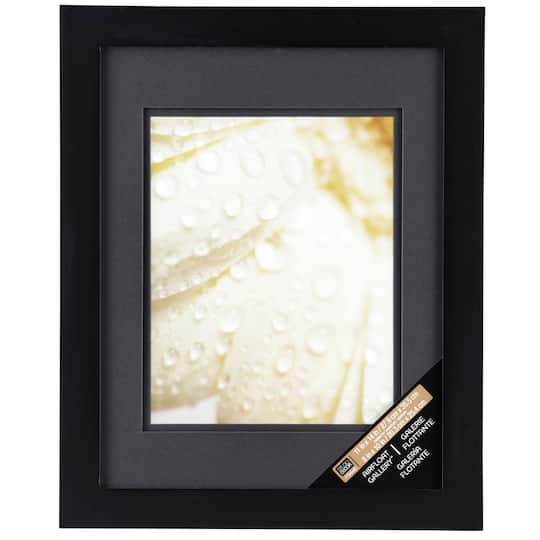 Black Gallery Wall Frame With Black Double Mat By Studio Dcor
