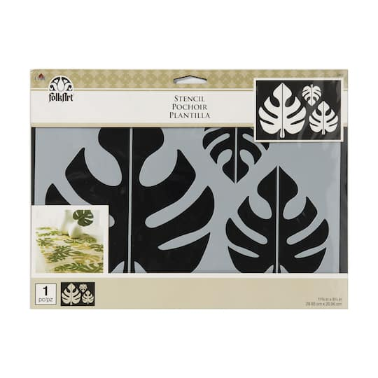 Shop For The Folkart Stencil Tropical Leaf Motif At Michaels Find images of tropical leaves. folkart stencil tropical leaf motif