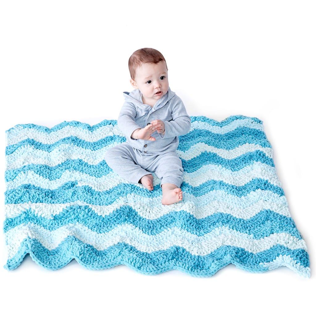 Bernat Baby Blanket Stripes Crochet Chevron Baby Blanket