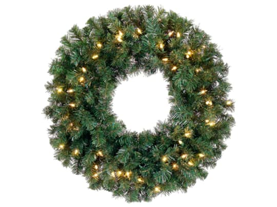 Prelit Christmas Wreath.12 Pre Lit Deluxe Windsor Pine Artificial Christmas Wreath Clear Lights