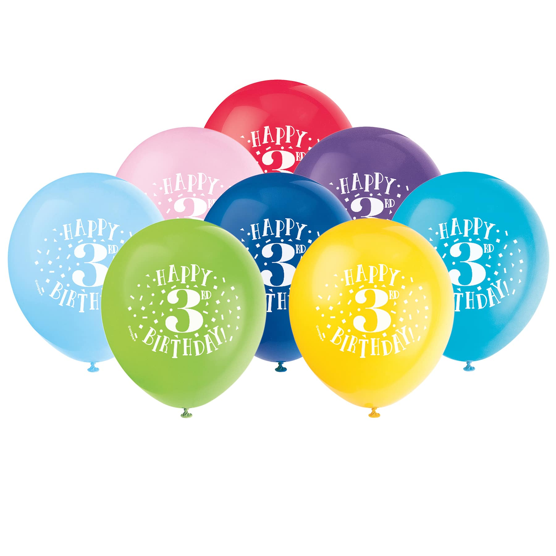 Happy 3rd Birthday Balloons 3rd Birthday Party Decorations