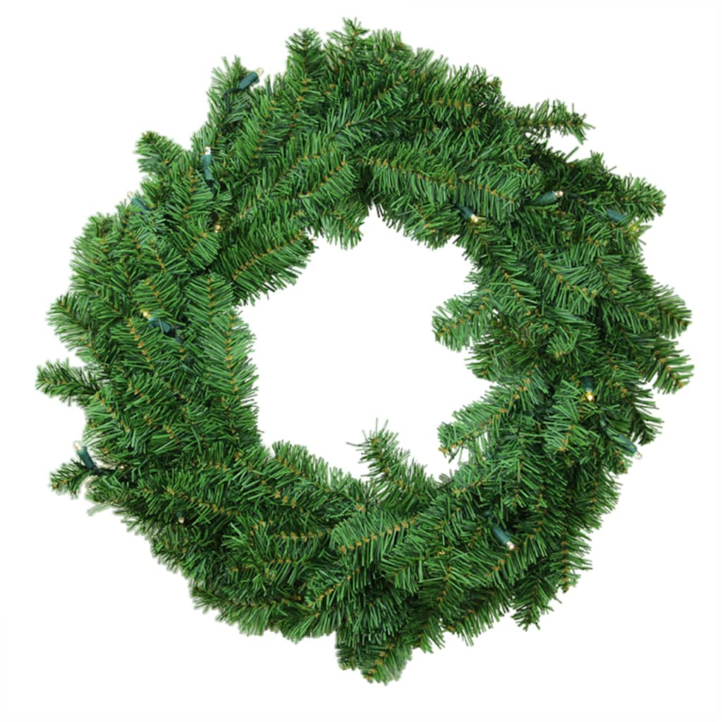 30 battery operated canadian pine artificial christmas wreath clear led lights img