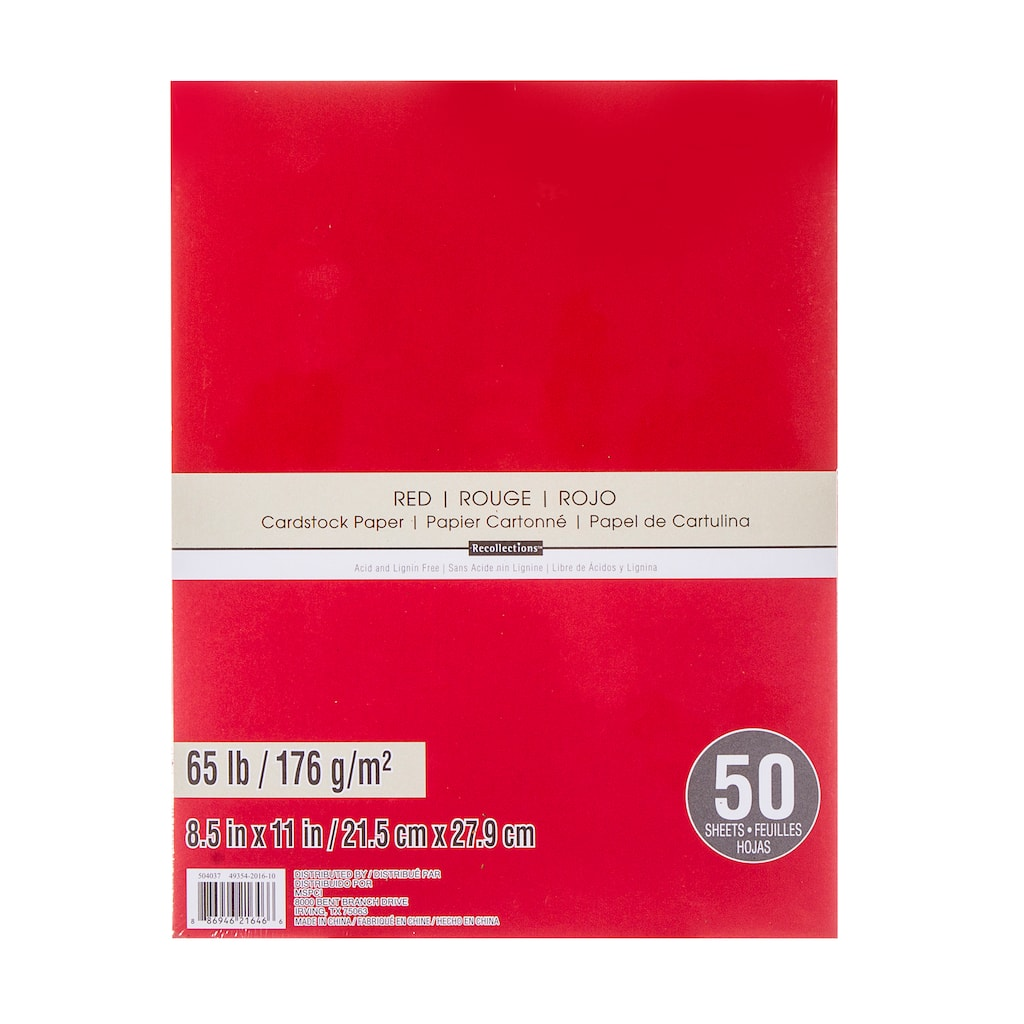Shop for the Red Cardstock Paper Value Pack By Recollections™ at ...