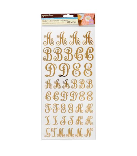 Find the Monogram Letter Stickers By Recollections™ at Michaels