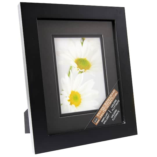Black Gallery Frame With Black Double Mat By Studio Décor