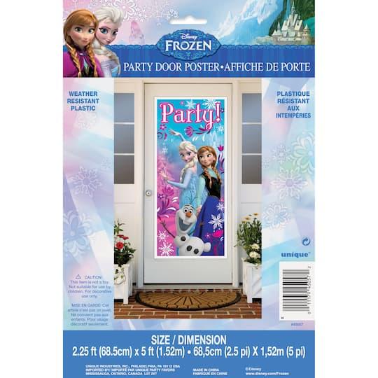 DISNEY FROZEN PLASTIC DOOR POSTER ~ Birthday Supplies Wall Hanging Decorations