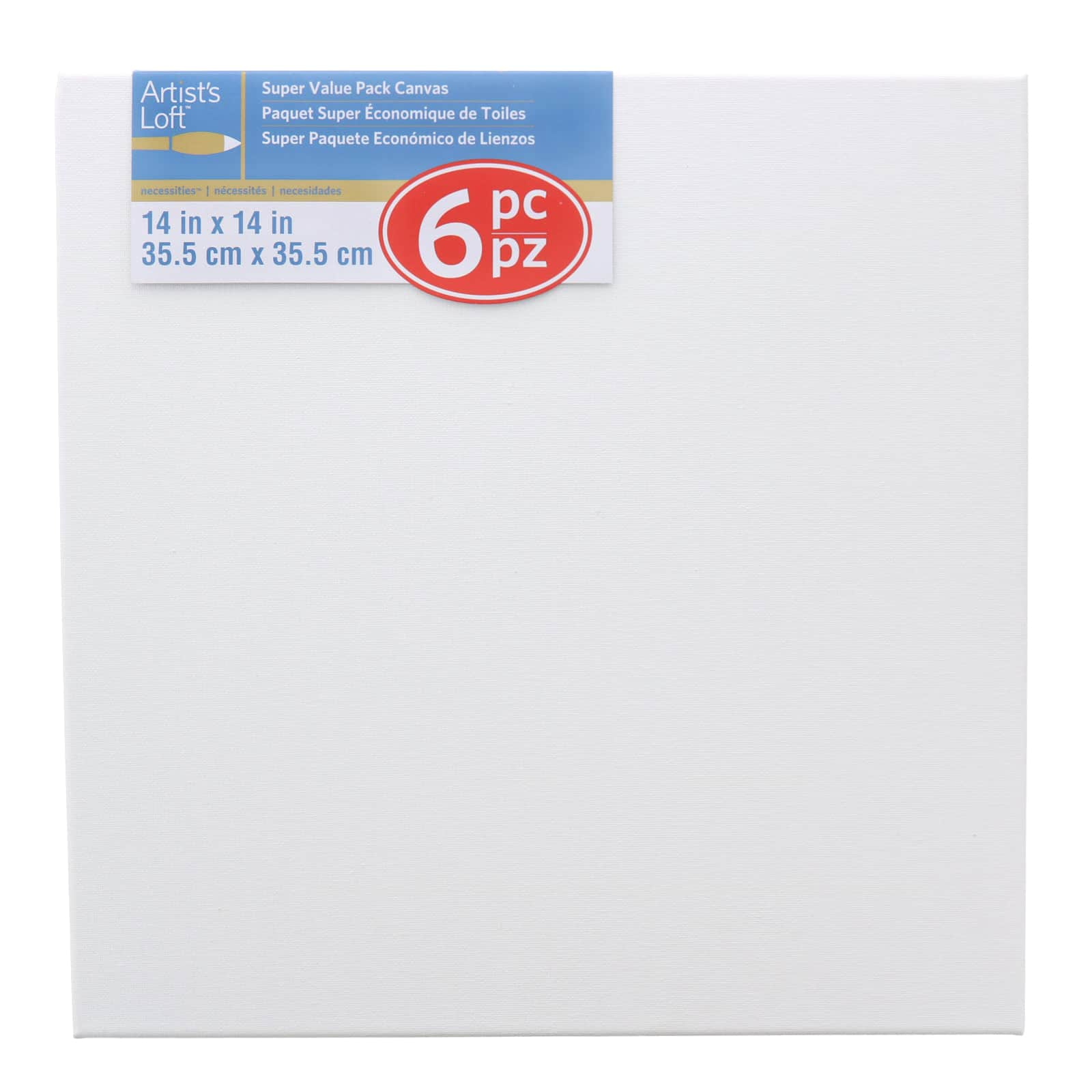 """LWR Crafts Stretched Canvas 6/"""" X Pack of 6"""
