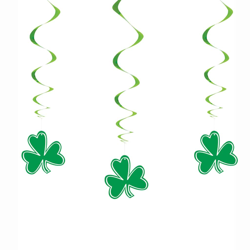 Hanging Shamrock St Patrick S Day Decorations 3ct