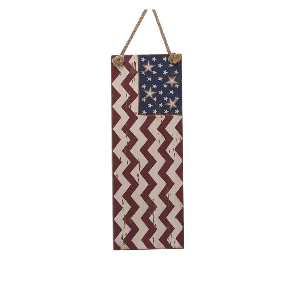 d98959995b64 Glitzhome® Wooden Chevron American Flag Wall Décor. img