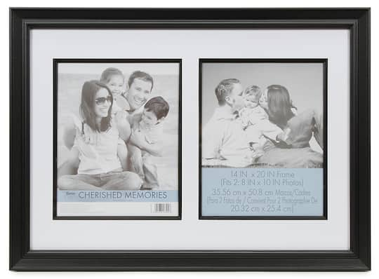 Cherished Memories Double Mat Frame Black 14 X 20 Inches