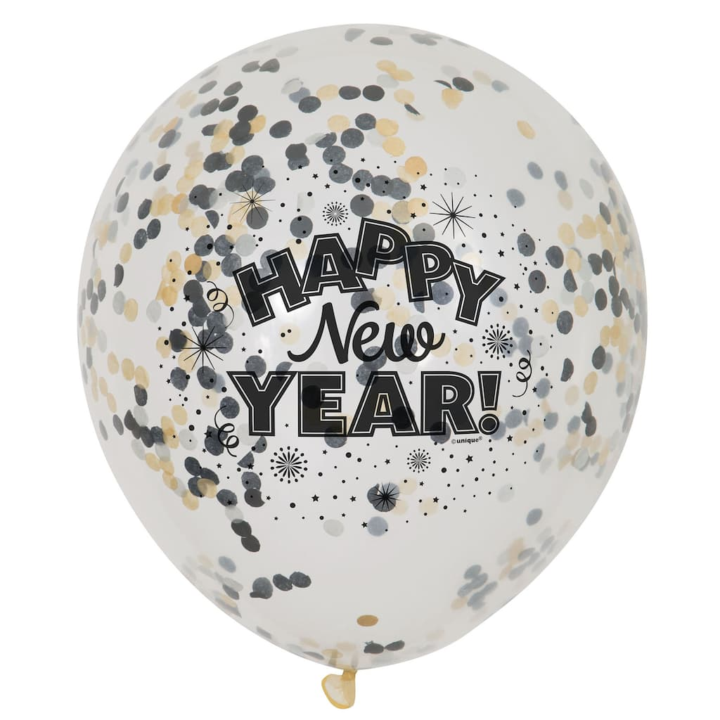 Happy New Year Confetti Filled Balloons | New Years Party ...