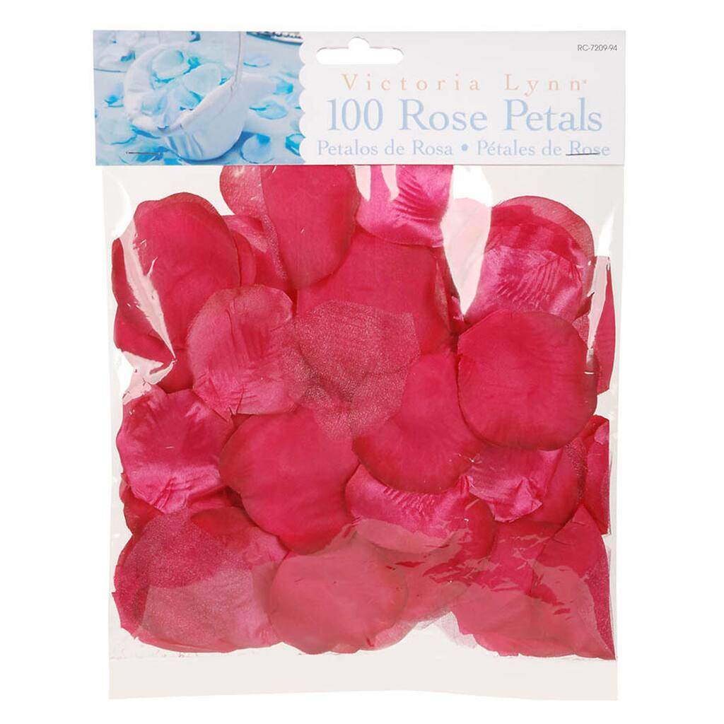 Victoria Lynn™ 100 Loose Satin Rose Petals, Fuchsia
