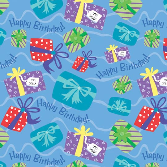 Happy Birthday Present Gift Wrap