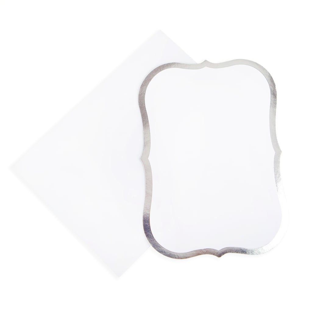 Silver Foil Flat Cards Envelopes By Recollections 5 X 7