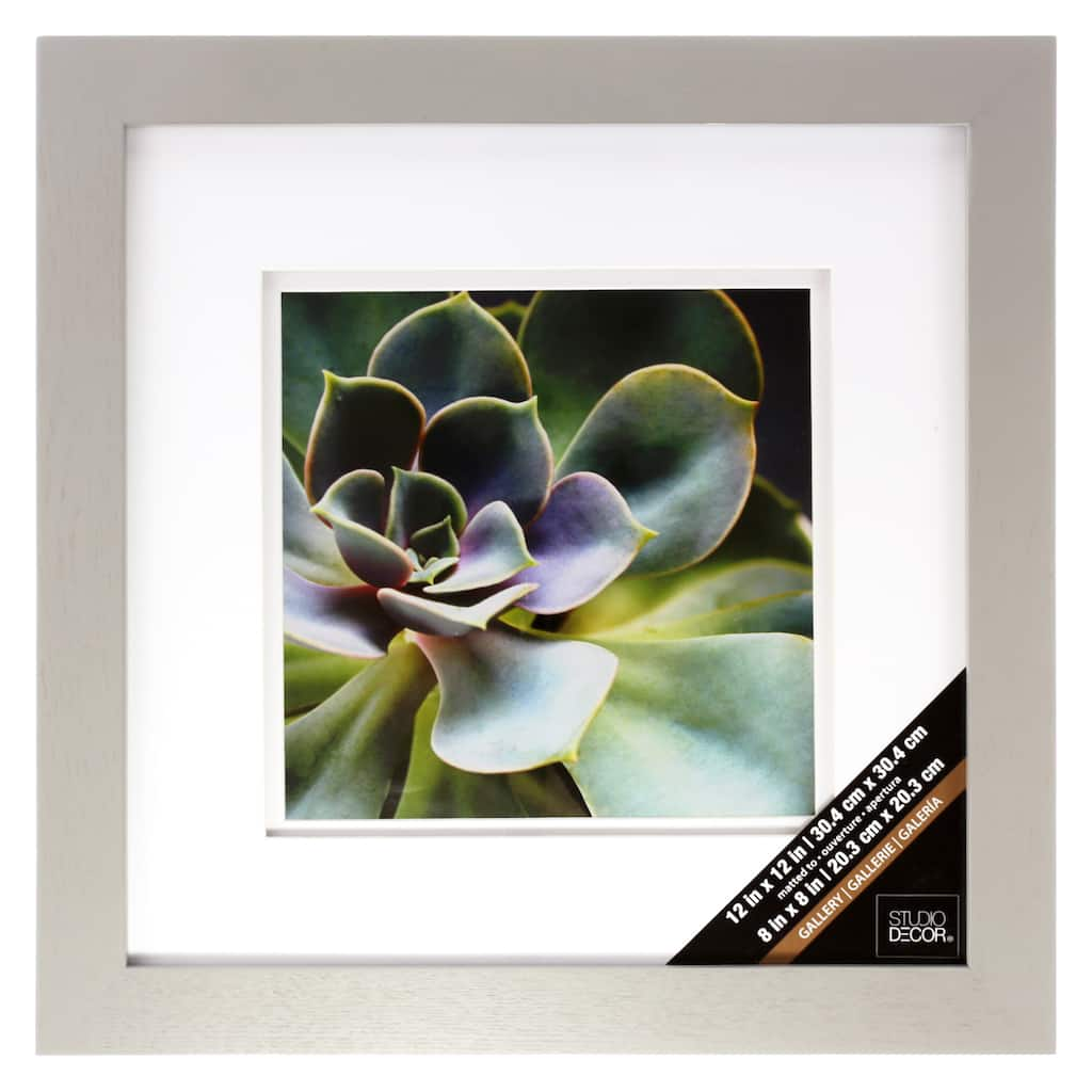 Grey Gallery Wall Frame with Double Mat by Studio Décor®