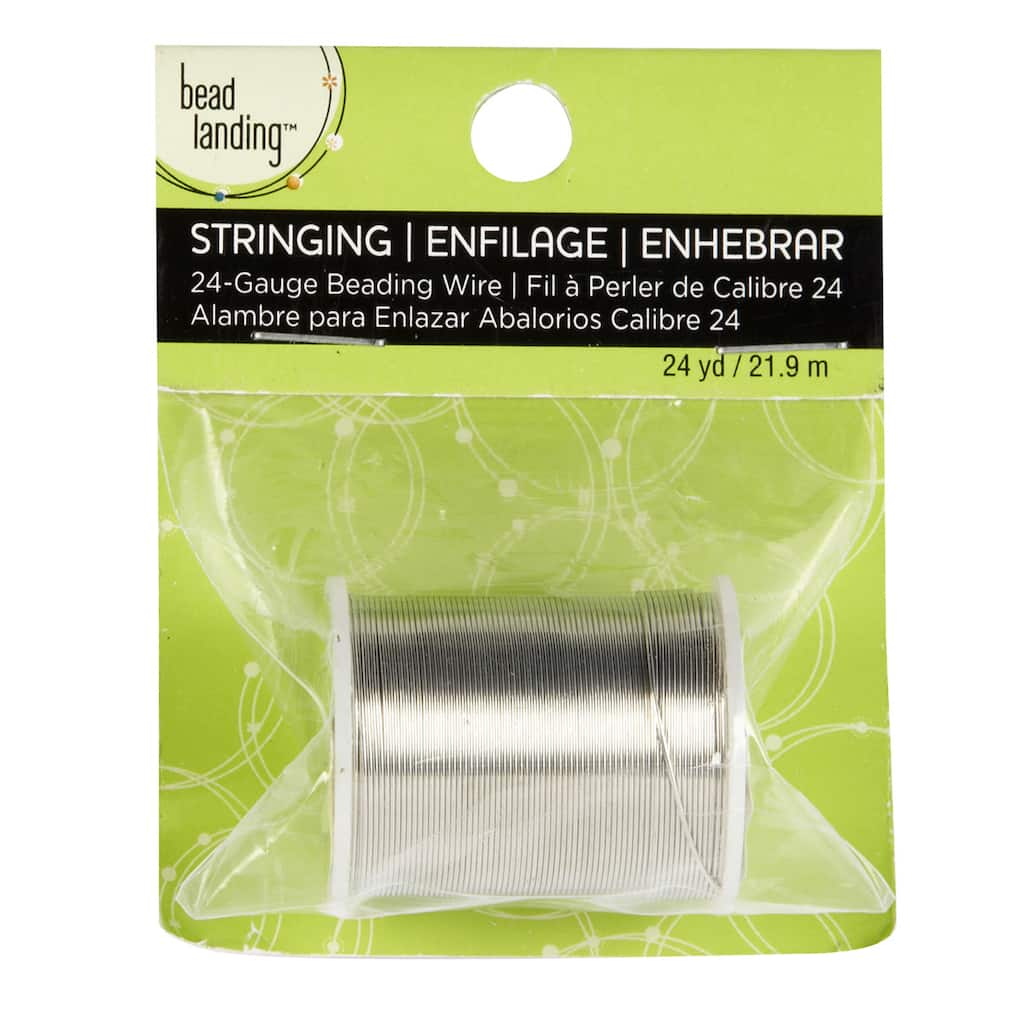 Bead Landing Beading Wire, Silver, 24 Gauge