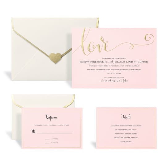 Find The Gold Blush Wedding Invitation Kit By Celebrate It At
