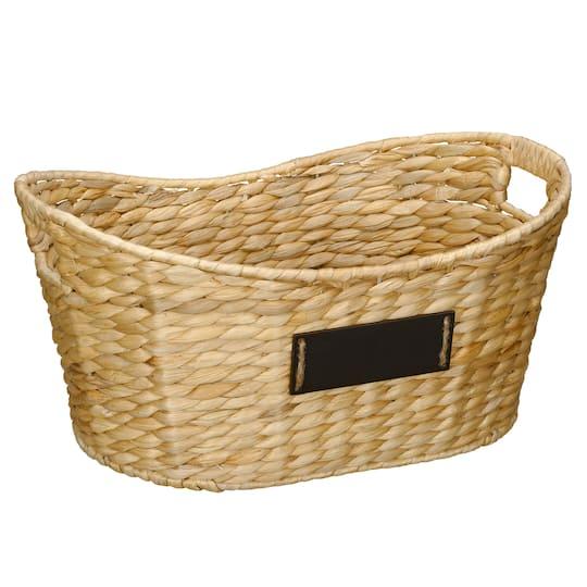 Water Hyacinth Laundry Basket With Chalkboard By Ashland