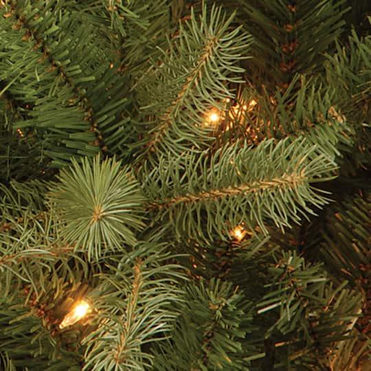 9 Artificial Christmas Tree.9 Ft Pre Lit Feel Real Downswept Douglas Fir Pencil Artificial Christmas Tree Clear Lights
