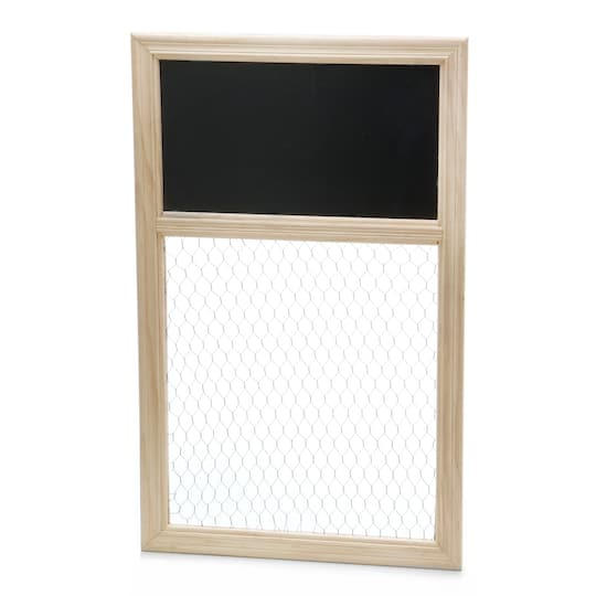 Darice® Unfinished Chicken Wire Frame with Chalkboard Top